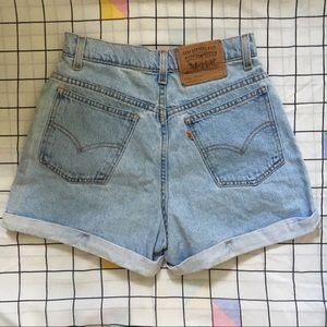 Levi's Shorts - Vintage Levi's orange tab jean shorts